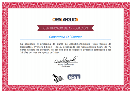 Certificado Final de Aprobación