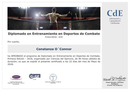 Diplomado en Entrenamiento en Deportes de Combate