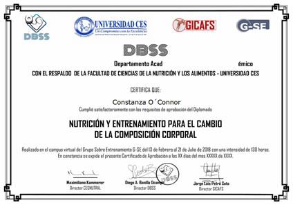 Certificado DBSS