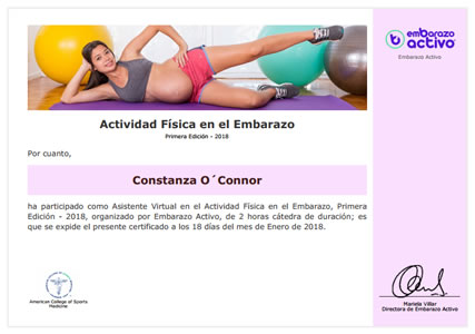 Actividad Física en el Embarazo