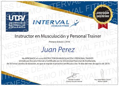 Instructor en Musculación y Personal Trainer - Certificación Universitaria