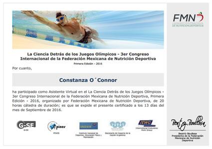 Certificado Final de Asistencia - La Ciencia Detrás de los Juegos Olímpicos