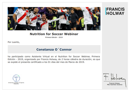 Nutrition for Soccer Webinar