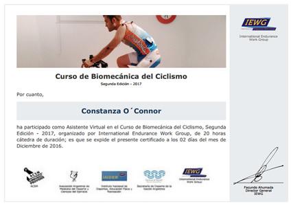 Certificado de Biomecánica del Ciclismo