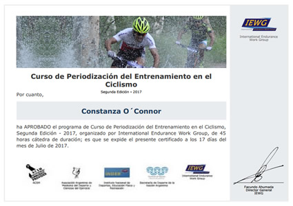 Certificado de Periodización del Entrenamiento en el Ciclismo