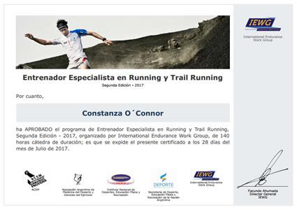 Certificado de Entrenador Especialista en Running y Trail Running