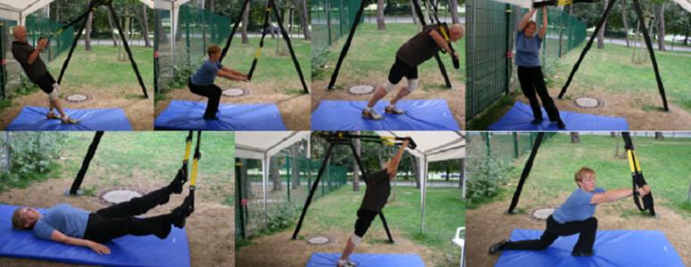 Activación muscular del tronco durante ejercicios de entrenamiento dinámico en suspensión