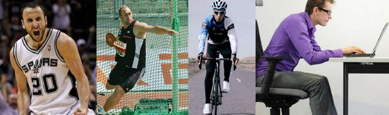 Comparación fisiológica entre no-atletas, y atletas de resistencia, de potencia y de deportes de equipos