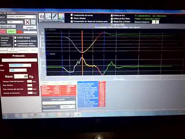 Evaluación con Encoder Lineal Rotatorio (Fuerza en Banco con CEA)