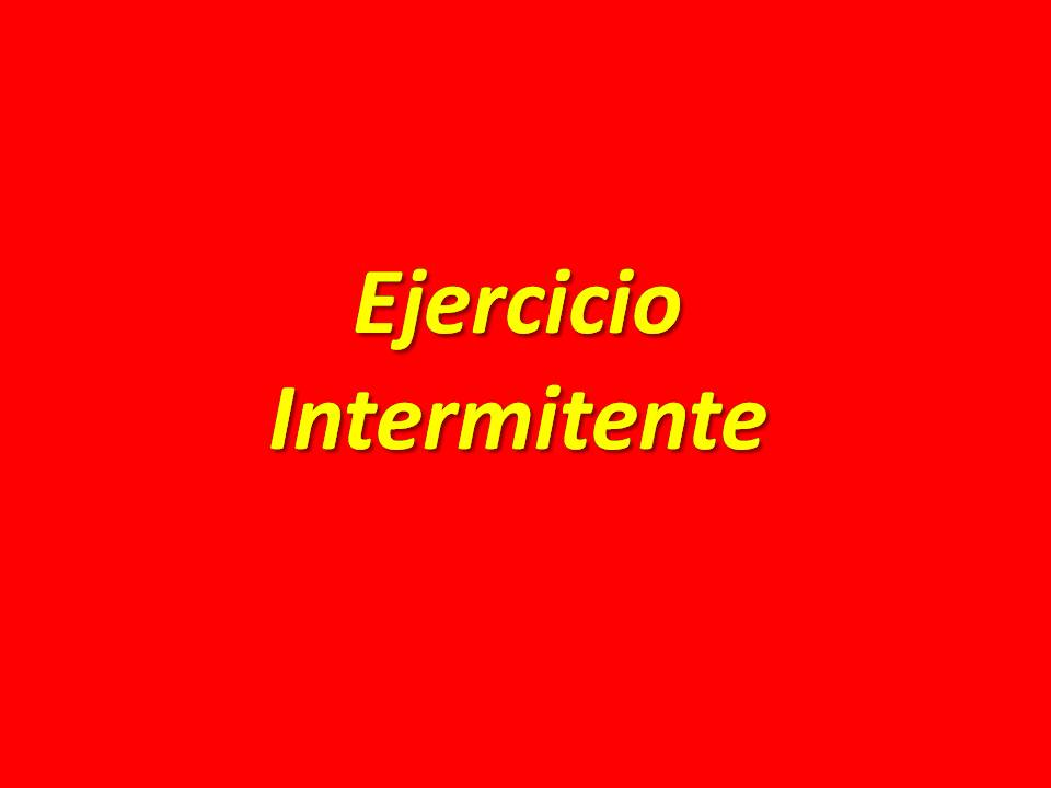 Audio de ejercicio intermitente