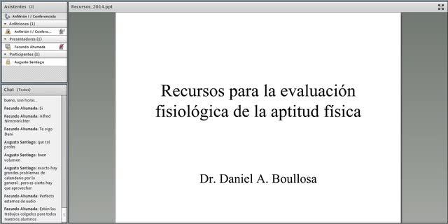 Fragmento charla Recursos para la Valoración Fisiológica de la Aptitud Física