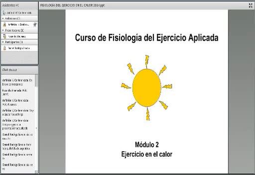 Fragmento de la charla sobre fisiología del calor