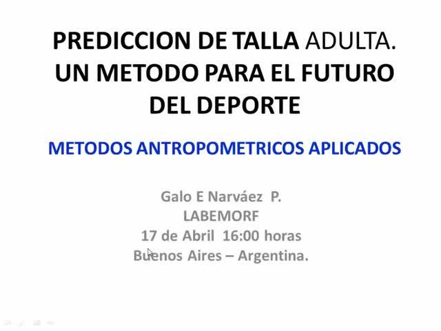 CALCULADORA LABEMORF PARA PREDICCION DE TALLA Y EDAD BIOLOGICA