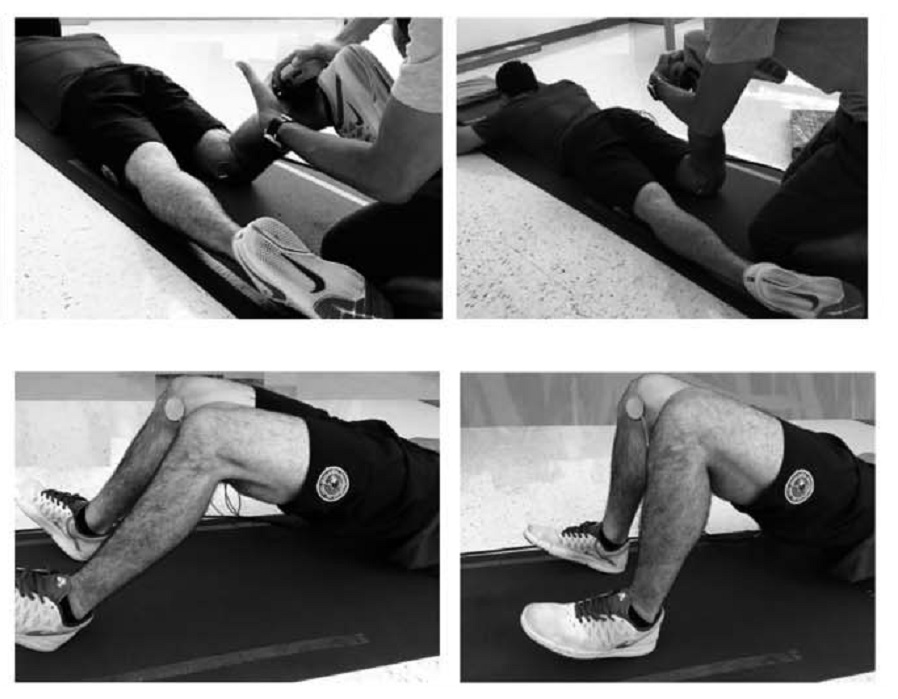 Diferencias en la actividad electromiográfica de los músculos isquiotibiales, glúteo mayor, y erector espinal en una variedad de cambios cinéticos.