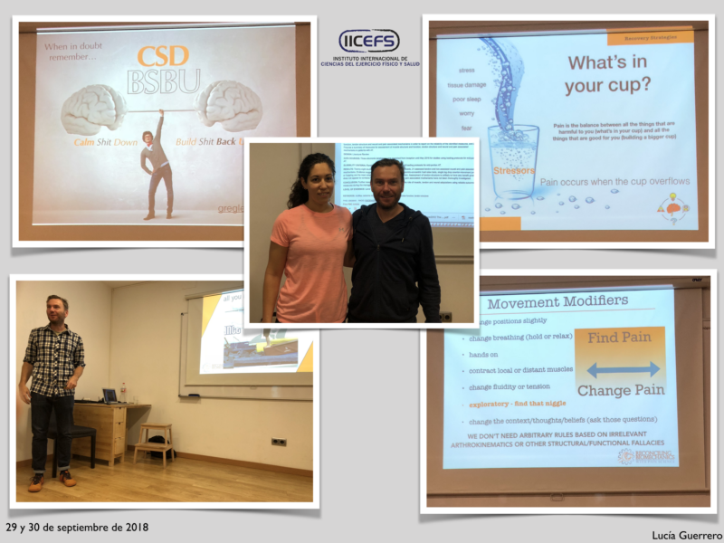 "Resumiendo las Jornadas Formativas con Greg Lehman: ""Reconciling Biomechanics with Pain Science"""