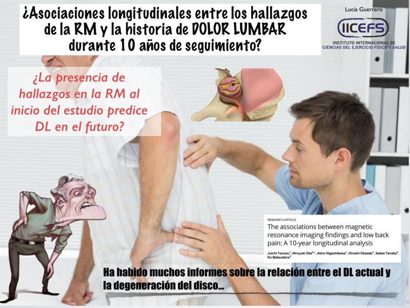 Asociaciones hallazgos RM y Dolor Lumbar: Análisis longitudinal durante 10 años de seguimiento