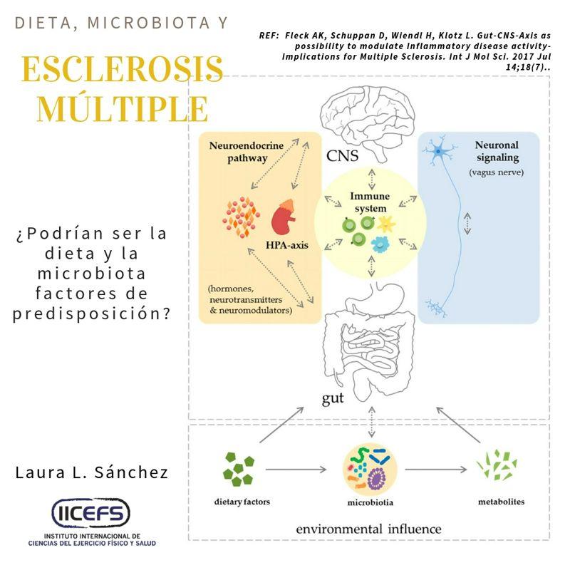 Relación entre la dieta, la microbiota y la Esclerosis Múltiple.