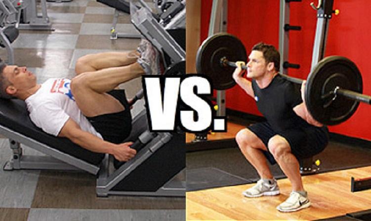 La fuerza, la composición corporal, y efectos funcionales en los ejercicios de sentadilla versus press de piernas