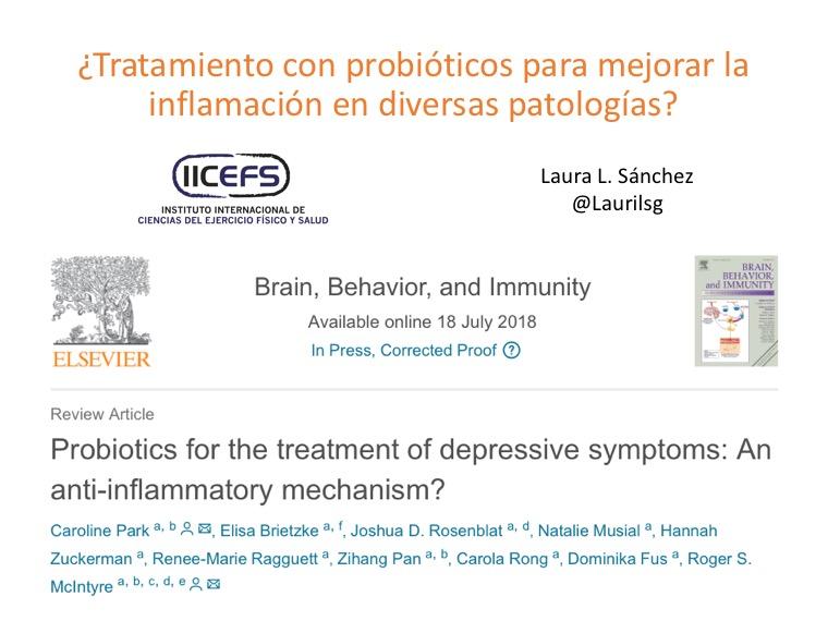 ¿Tratamiento con probióticos para mejorar la inflamación en diversas patologías?