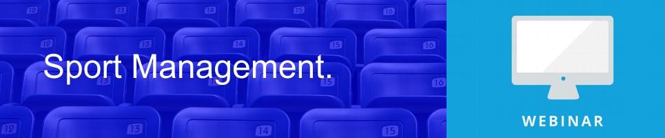 Webinar de Gestión Deportiva, la Nueva Profesión