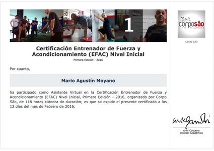 Certificado de EFAC Nivel Inicial