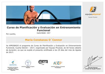 Curso de Planificación y Evaluación en Entrenamiento Funcional