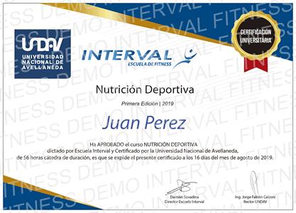 Curso de Nutrición Deportiva con Opción a Certificación Universitaria