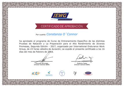Certificado IEWG