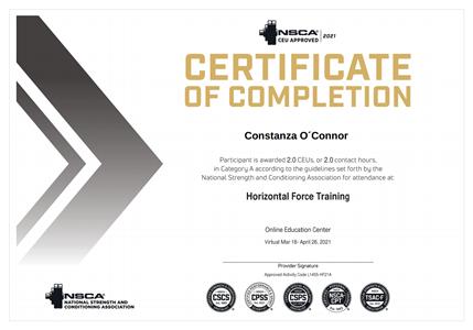 Certificado NSCA