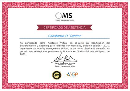 Certificado Final de Asistencia