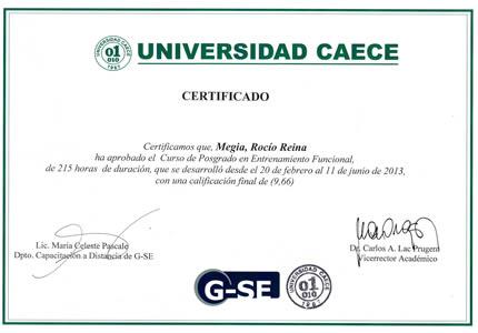 Certificado Final de Curso de Posgrado: Universidad CAECE