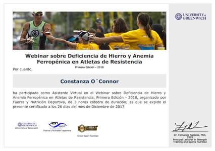 Webinar sobre Deficiencia de Hierro y Anemia Ferropénica en Atletas de Resistencia