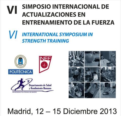 Respecto a la participación en el VI Simposio Internacional de actualizaciones en entrenamiento de la fuerza.