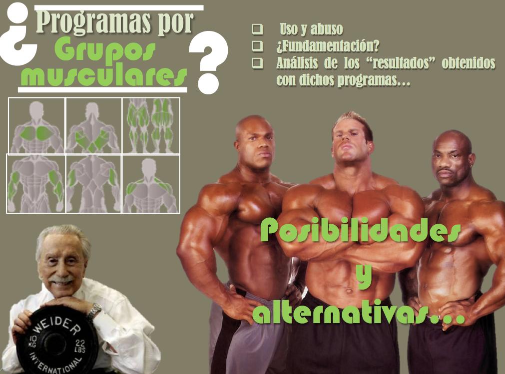 """Entrenamiento """"por grupos musculares"""": análisis en torno a su uso-abuso"""
