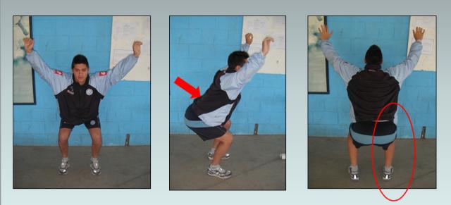 Evaluación postural dinámica mediante sentadilla de arranque. Detección de desequilibrios musculares.