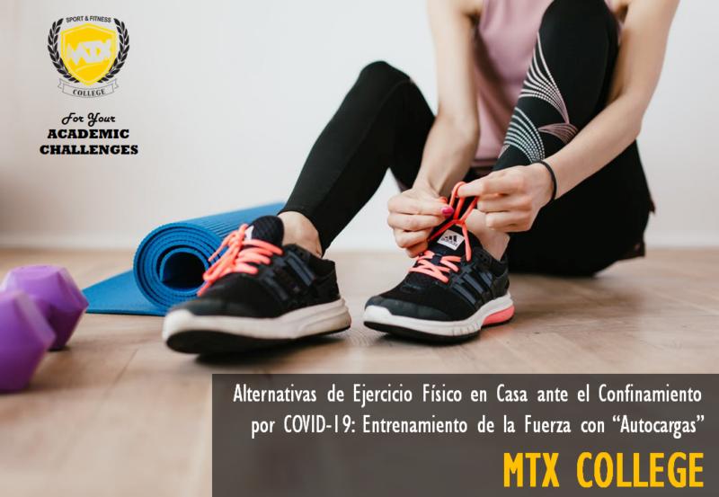 """Alternativas de Ejercicio Físico en Casa ante el Confinamiento por COVID-19: Entrenamiento de la Fuerza con """"Autocargas"""""""