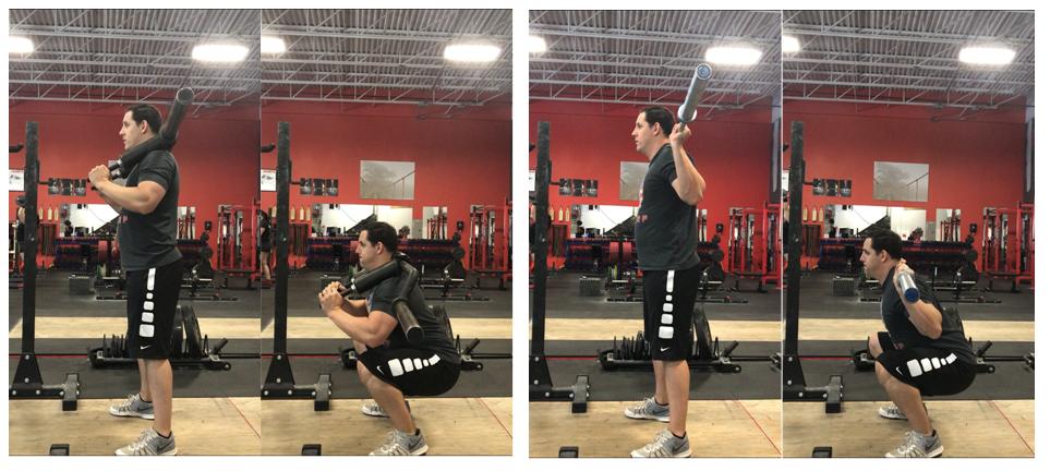 Comparaciones de fuerza máxima, activación muscular y velocidad de la barra entre una sentadilla con una barra tradicional o barra segura.