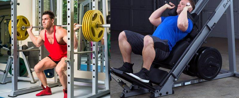 Activación muscular del tronco en la sentadilla con barra y en la sentadilla 'hack' con mismas cargas relativas