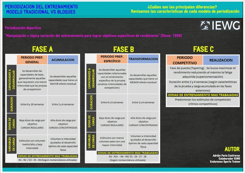 Infografía: modelos de periodización