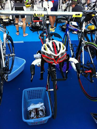 Llego la competición: El día del triatlón