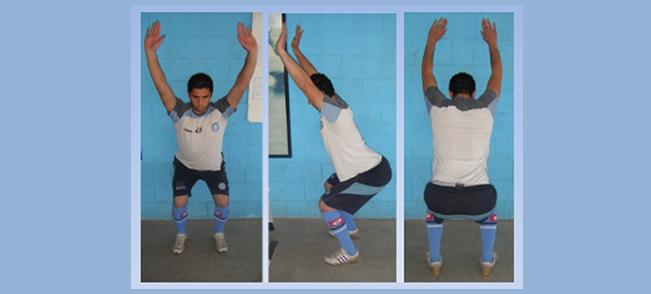 """Datos de disbalances musculares obtenidos a partir de la observación durante la ejecución de la  """"Sentadilla de arranque""""  (Overhead Squat)."""