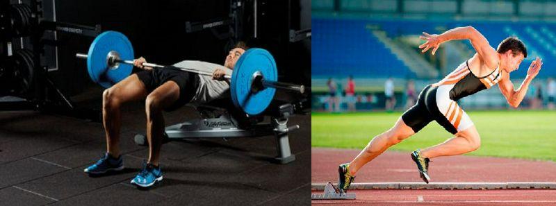 Los empujes pesados de cadera con barra no afectan el rendimiento del sprint