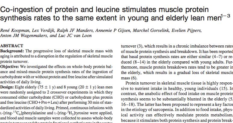 Co-ingestión proteinas mas leucina