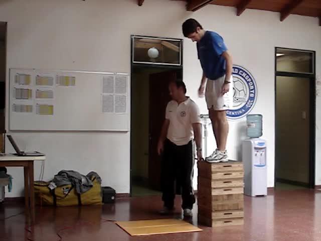 Test de DJ 80 cm (Drop Jump). Protocolo Incremental.