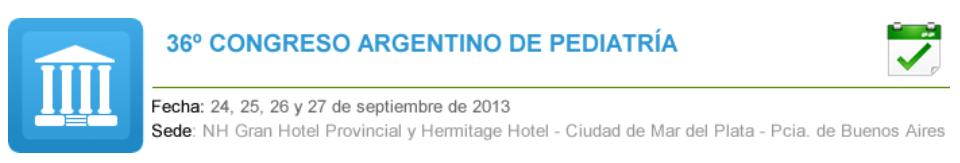 Poster 36° Congreso Argentino de Pediatría