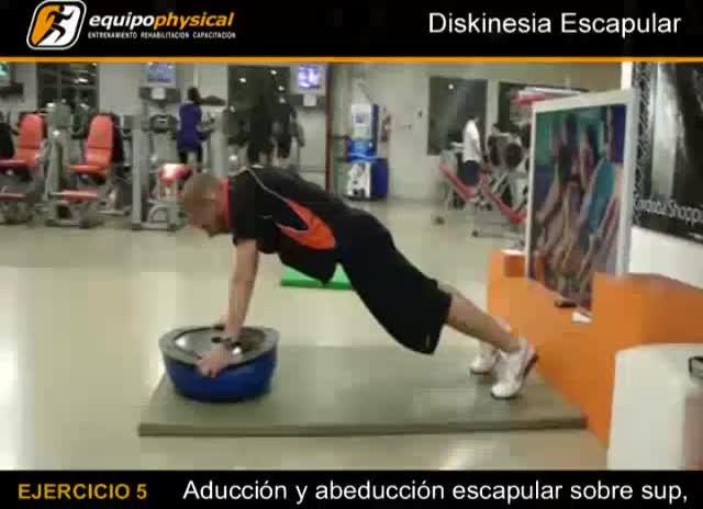 Ejercicios posibles para el abordaje de la diskinesia escapular