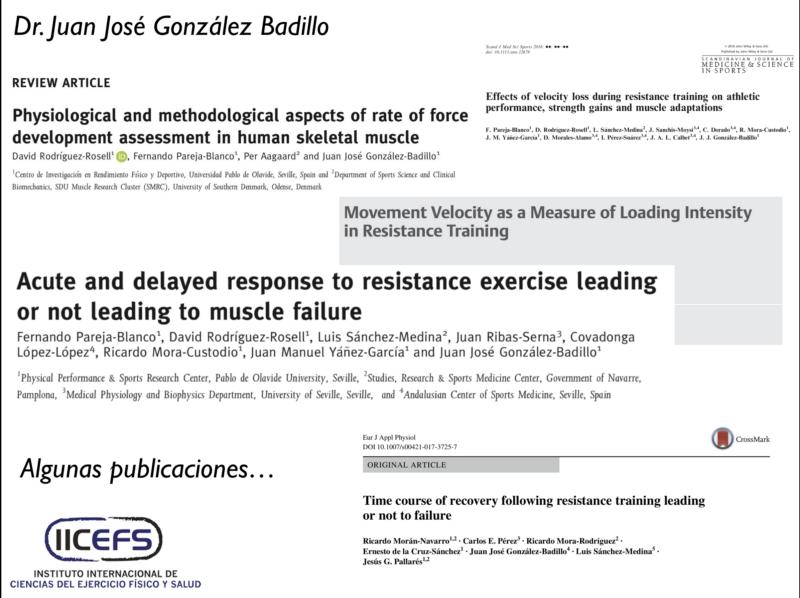 Aprendiendo con el Dr. Juan José González Badillo. Algunas cuestiones en torno al Control del Entrenamiento de la Fuerza