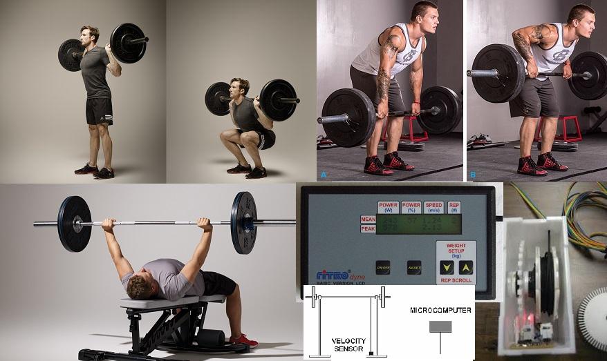 Comparación de las relaciones de carga-velocidad y de carga-potencia entre varones jóvenes y de mediana edad bien entrenados durante 3 ejercicios de fuerza populares.