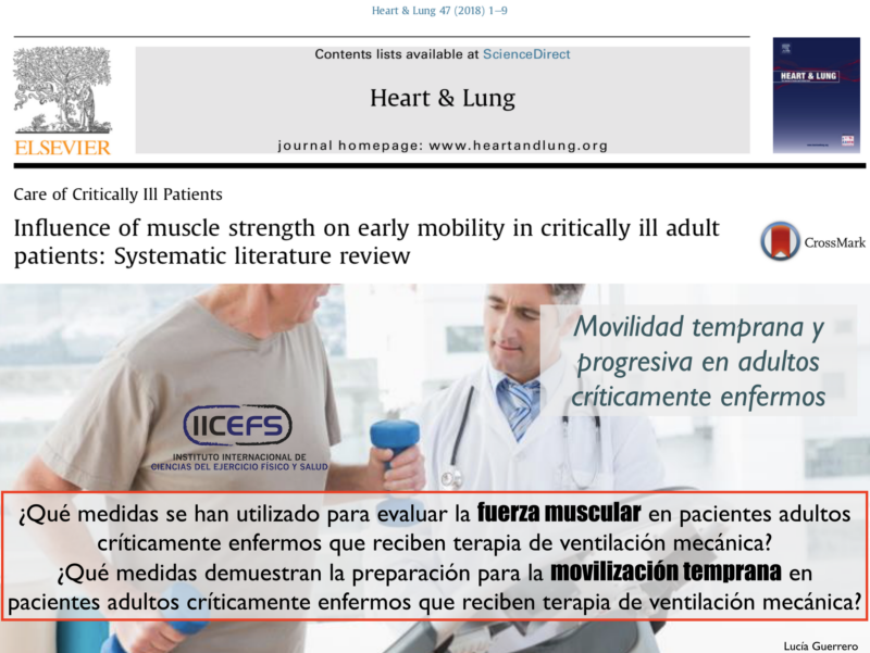 Inmovilidad en el paciente adulto críticamente enfermo: Consideraciones en la Fuerza Máxima