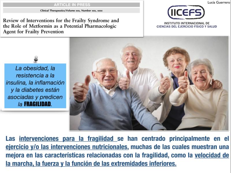 Papel de la resistencia a la insulina y la inflamación en el desarrollo de la fragilidad